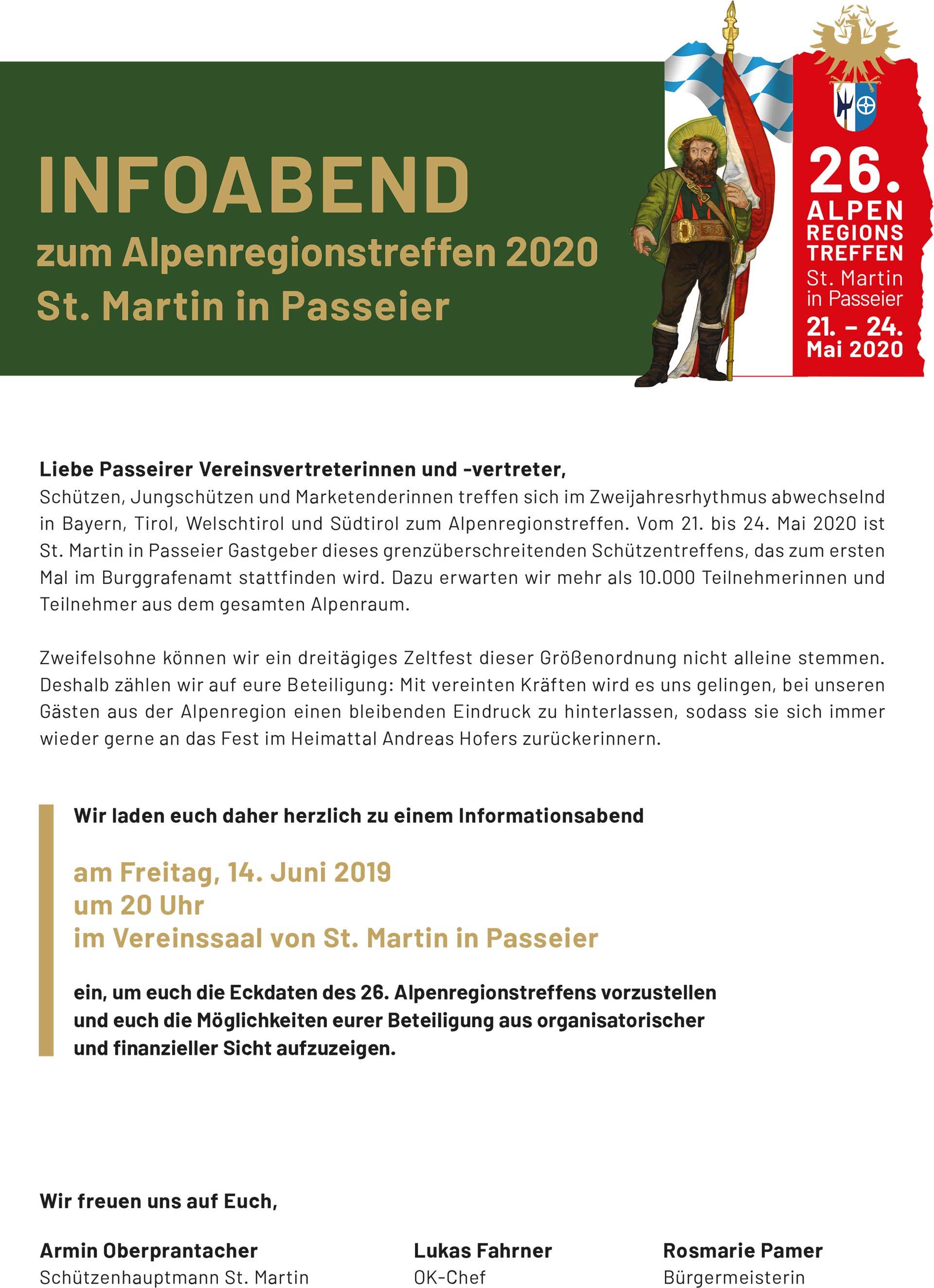 Alpenregionstreffen 2020: Infoabend zum Alpenregionstreffen 2020