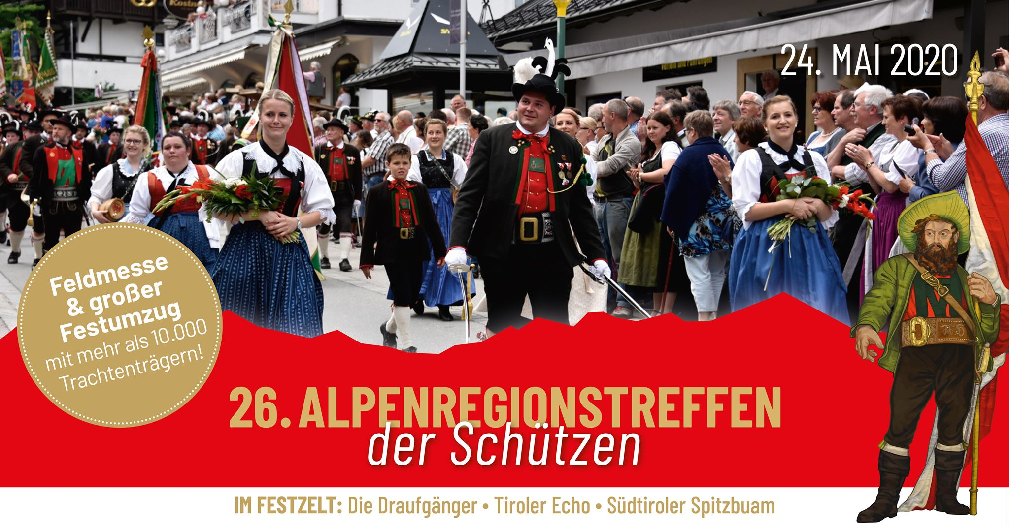 26. Alpenregionstreffen 2020 im Passeiertal