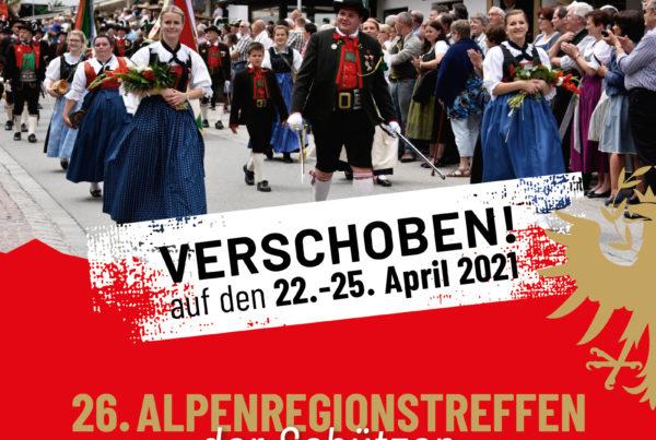 Neuer Termin für das größte Schützentreffen im Alpenraum: 22. bis 25. April 2021