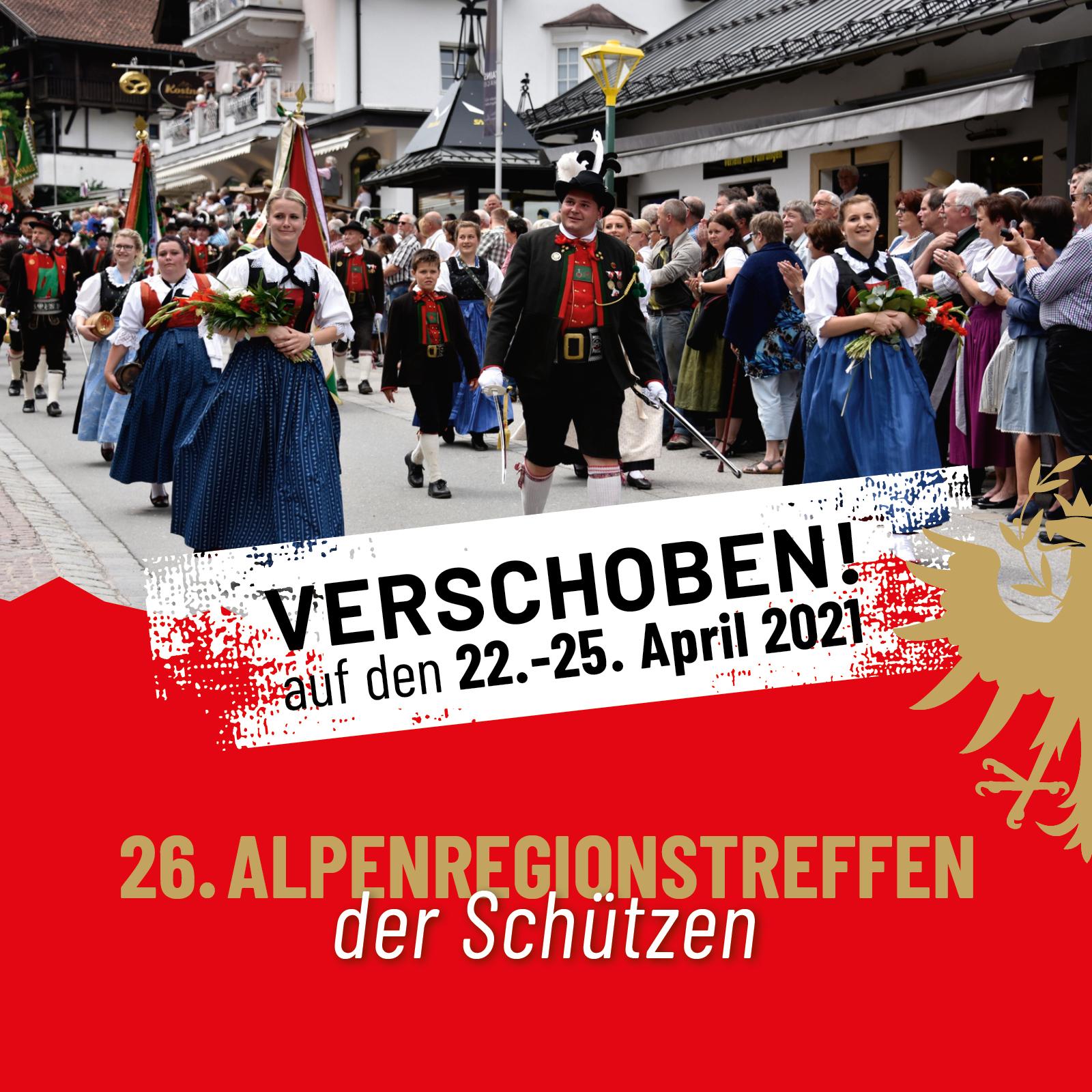 Alpenregionstreffen 2020: Aufgrund des Coronavirus wird das 26. Alpenregionstreffen verschoben