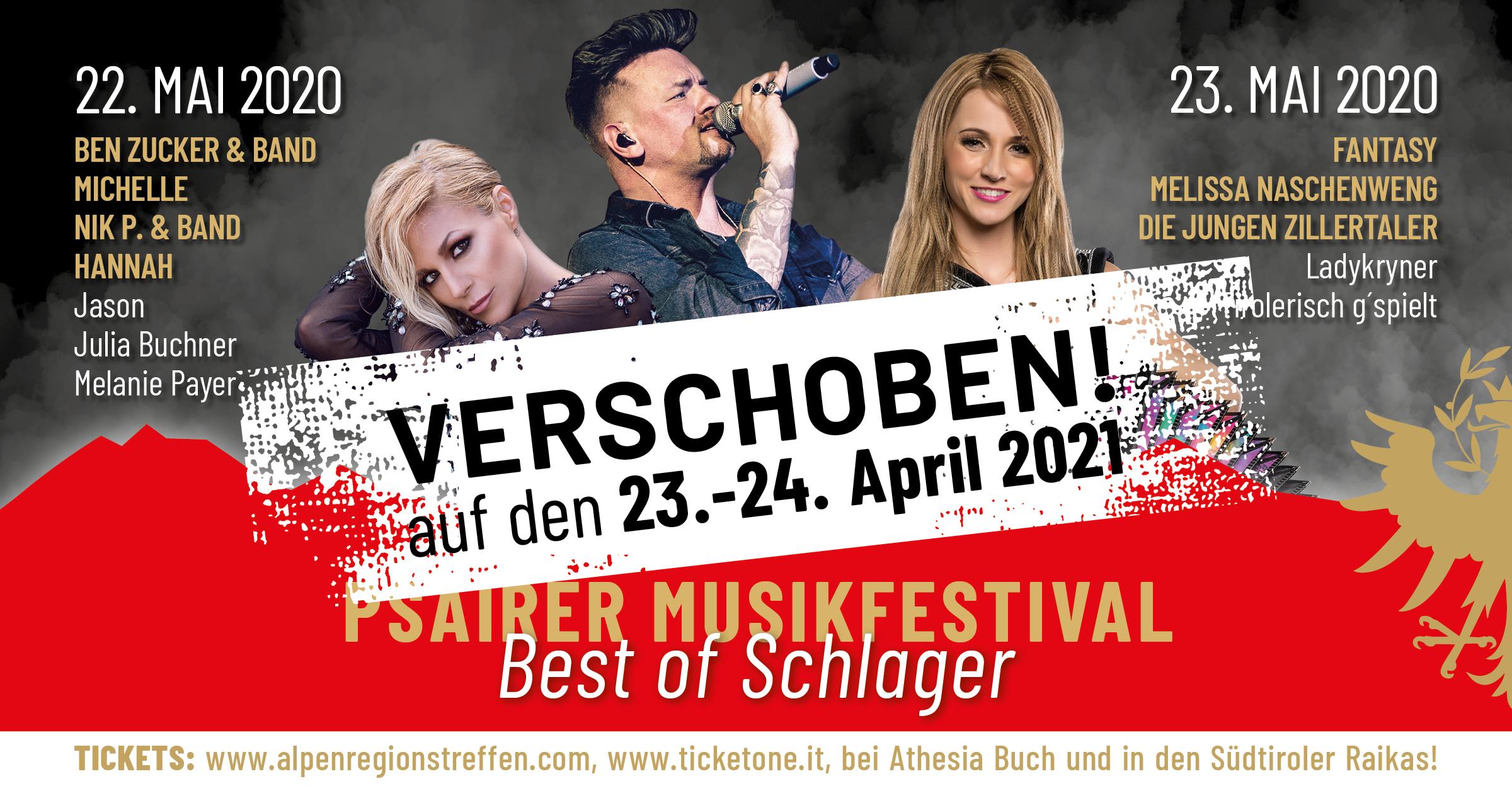"""Psairer Musikfestival – """"Best of Schlager"""""""