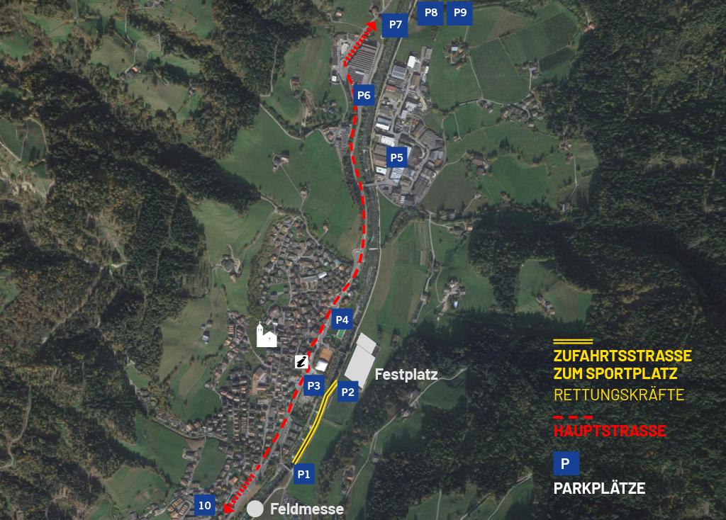 Parkplatz Alpenregionstreffen 2021