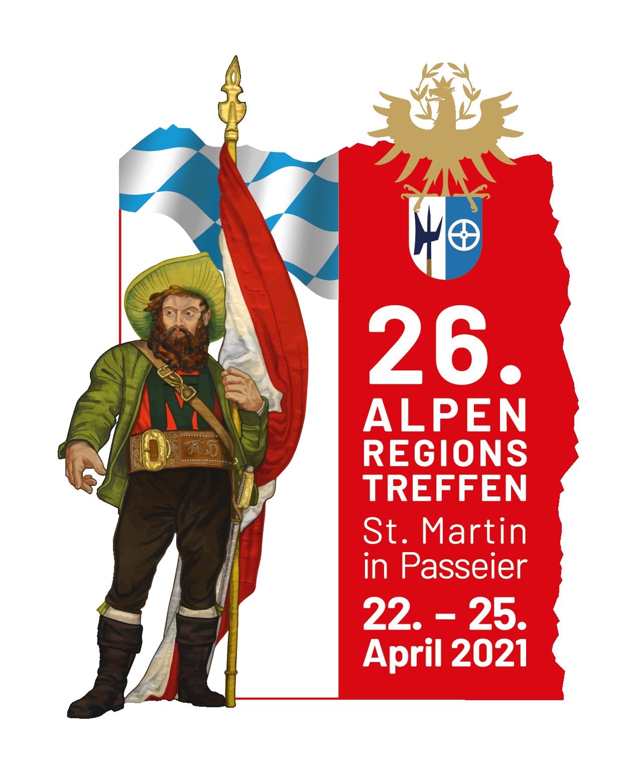26. Alpenregionstreffen vom 22. bis 25. April 2021 in St. Martin/Passeier (Südtirol)